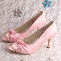 Custom Handmade Plus Size Women Wedding Shoes Pink Open Toe Dropship