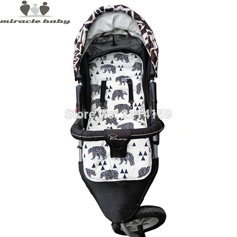 2017 Fashion Baby Diaper Pad New Cheap Baby Stroller Cushion Cotton Stroller Pad Seat Pad For Baby Prams Stroller Accessories