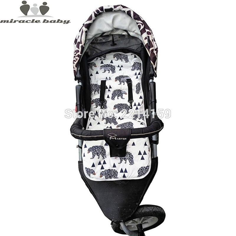 2017 Fashion Baby font b Diaper b font Pad New Cheap Baby Stroller Cushion Cotton Stroller
