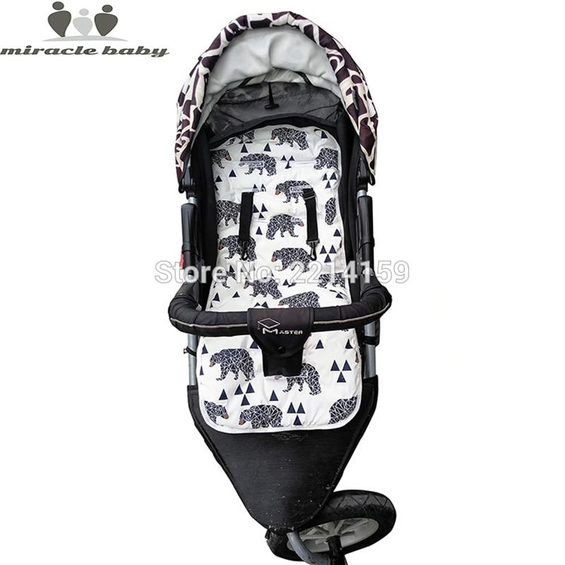 2017 Fashion Pannolino Del Bambino Pad Nuovo A Buon Mercato Passeggino Cotone Cuscino Pad Passeggino Sedile Pad Per Carrozzine per bambini Passeggino Accessori