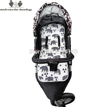 2018 moda Baby pieluchy pad nowe tanie Baby wózek poduszki bawełna wózek pad Seat Pad dla niemowląt wózki spacerowe akcesoria tanie i dobre opinie Poduszka siedziska Baby wózek pad Seat 19-24M 13-18M 10-12M 0-3M 4-6M EN ASTM CUD BABY Stroller Accessories Baby Trolley Mat