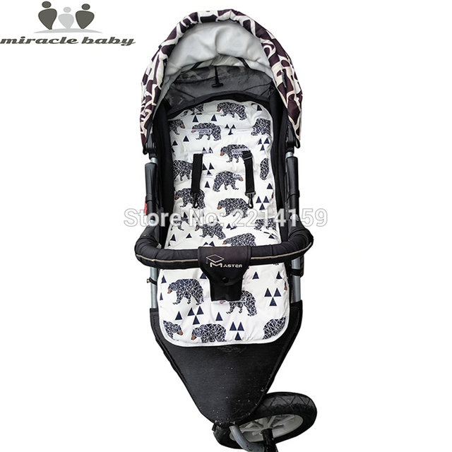 2019 Fashion Baby Diaper Pad New Cheap Baby Stroller Cushion Cotton Stroller Pad Seat Pad For Baby Prams Stroller Accessories