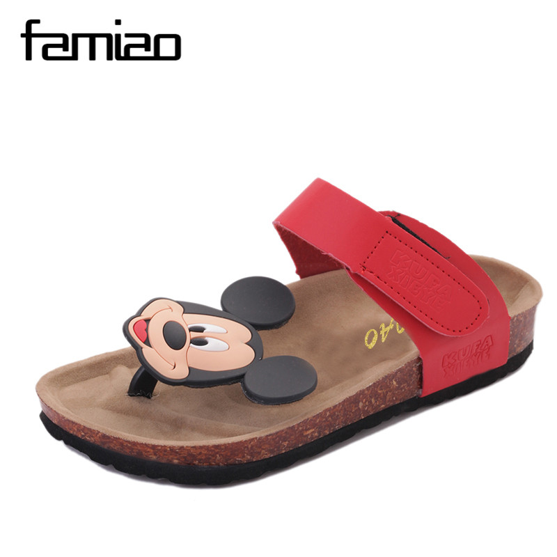 2017 New Summer Cork Slippers Shoe Women Casual Mixed Color PU Flip Flops Beach Sandal Slides Flat Free Shipping Plus Size new 2016 fashion men slippers mixed color summer beach sandals lovers buckle slides cork shoes slides plus size 11 color