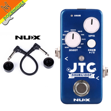 цена на NEW NUX JTC Drum&Loop Guitar Effects Pedal Looping Station 6 Minutes Recording Time 11 Drum Patterns unlimited overdubs