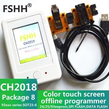 CH2018 Color screen offline programmer SPI programmer 24/25/93EEPROM DATA SPI FLASH with 93xx SOT23-6 socket adapter sot23 5 sot23 6 programmer adapter sot6 sot5 adapter test socket sot23 to dip6 test socket
