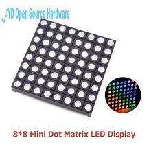 10 pièces polychrome 8x8 8*8 Mini matrice de points LED affichage rouge vert Bule rvb Anode commune Tube numérique écran pour bricolage 60mm x 60mm x 5mm