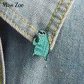 Мультфильм маска ленивого эмали штырь вечерние значки с животными брошь мятно-зеленого цвета, булавка для джинсы рубашка сумка забавные юв...