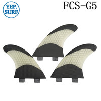 Surfboard Pranchas de Surf FCS G5 Fins White color Fiberglass Fins Honeycomb FCS Fins in Surfing