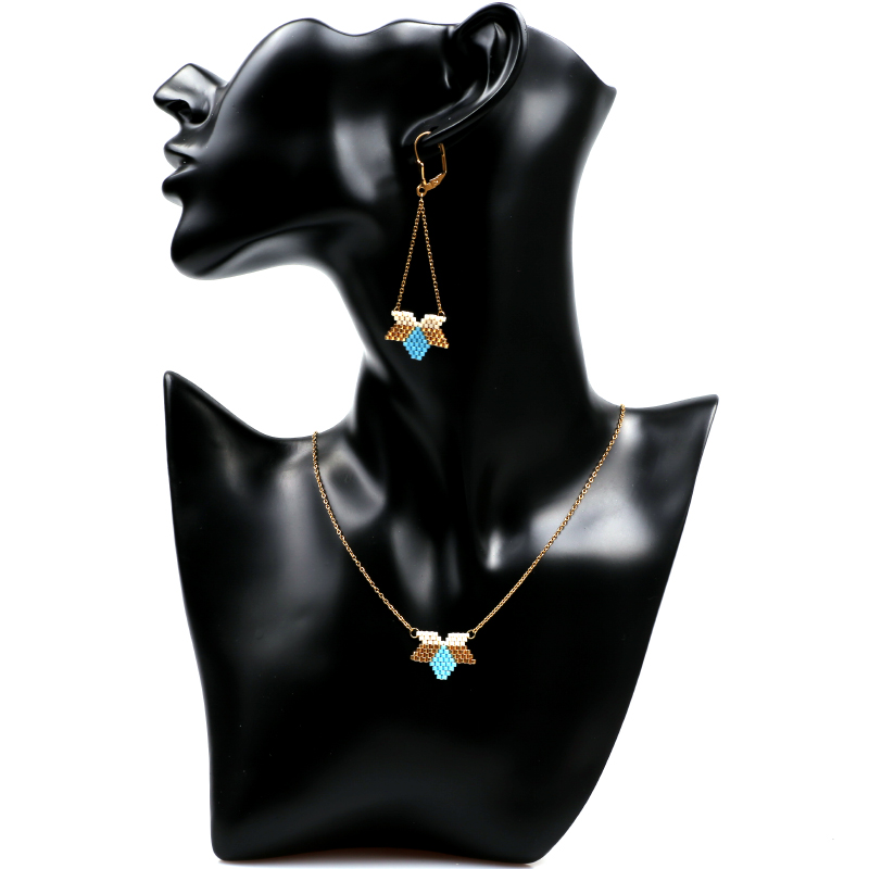 FAIRYWOO Wholesale Boho Miyuki Earring Luck Woman Crystal Jewelry Star Irregular Statement Sweet Hanging Long Drop Earring in Drop Earrings from Jewelry Accessories