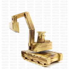 Wooden Crafts Wooden Shovel Excavator Singing Music Box