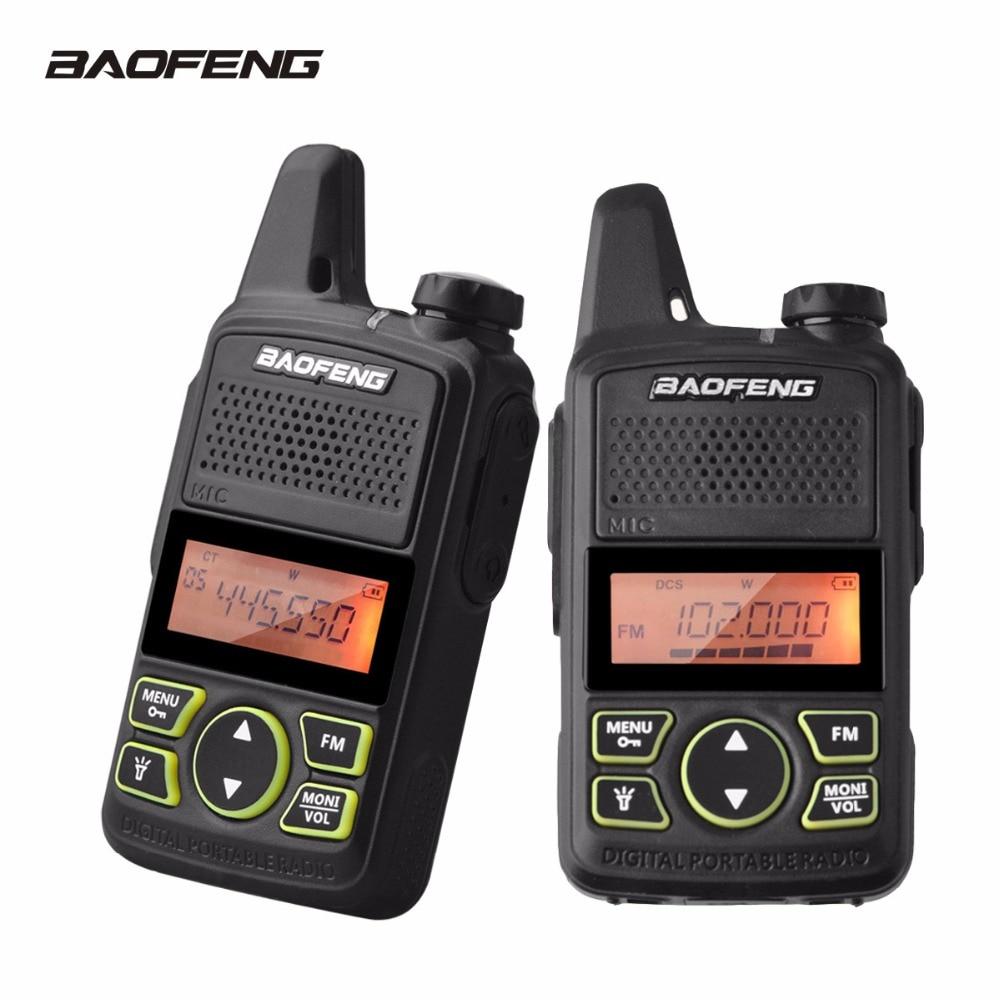 2Pcs Baofeng T1 Walkie Talkie BF-T1 MINI Two Way Radio UHF 400-470mhz 20CH FM Flashlight Handheld Transceiver Portable Ham Radio