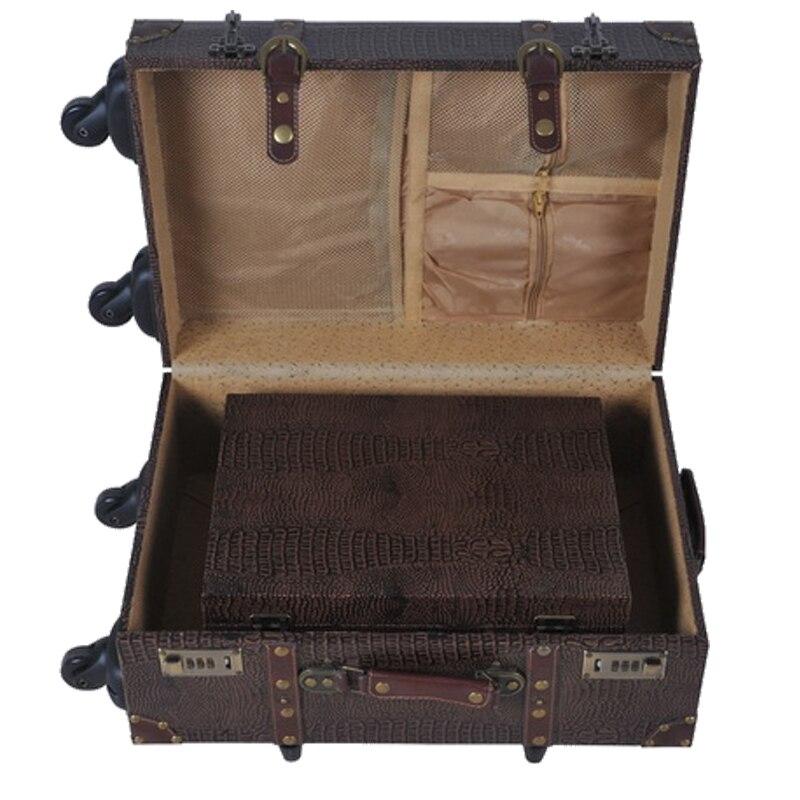 PU läder retro rosor tryckt väska väska bagage - Väskor för bagage och resor - Foto 6