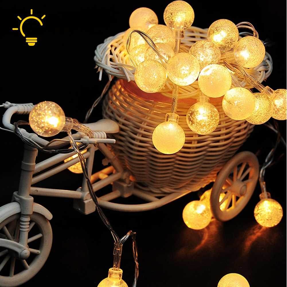 20-100 LEDs Battery Operated PC Pearls Bead LED Fairy String Light Home Decor