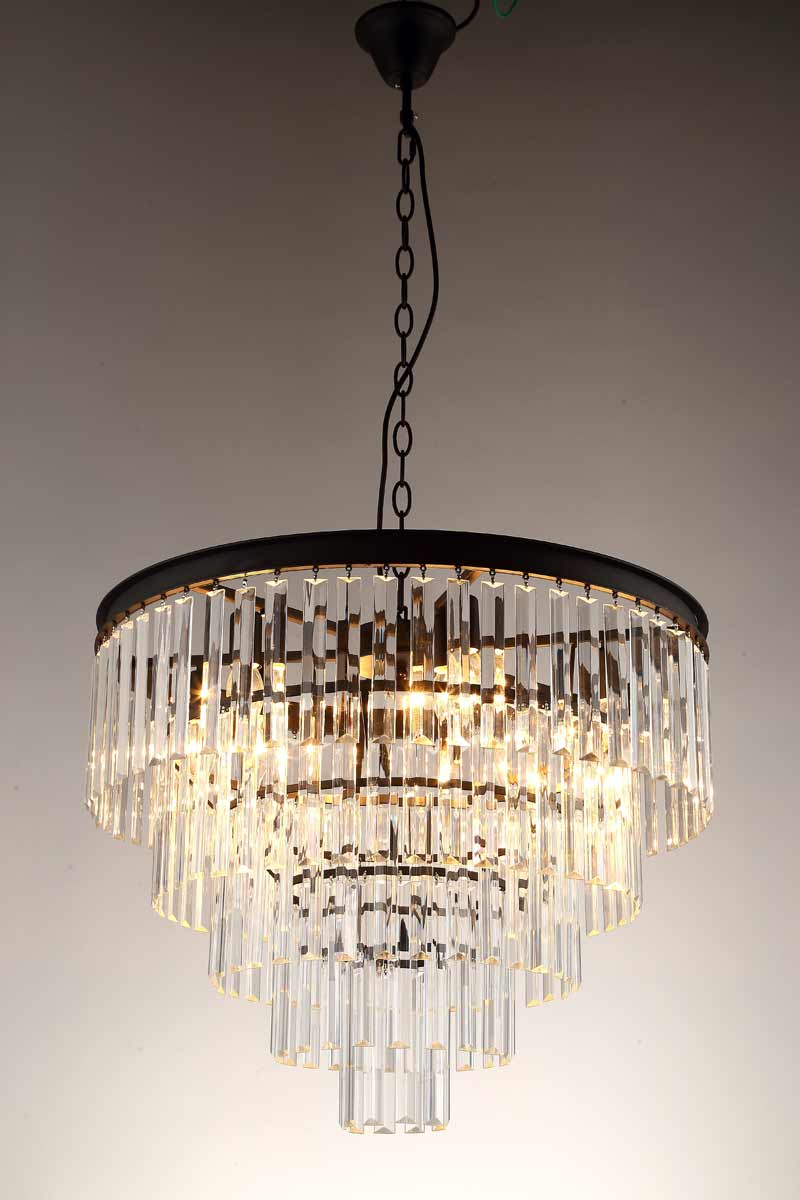American Country Pendant Light Vintage Crystal Lamps For