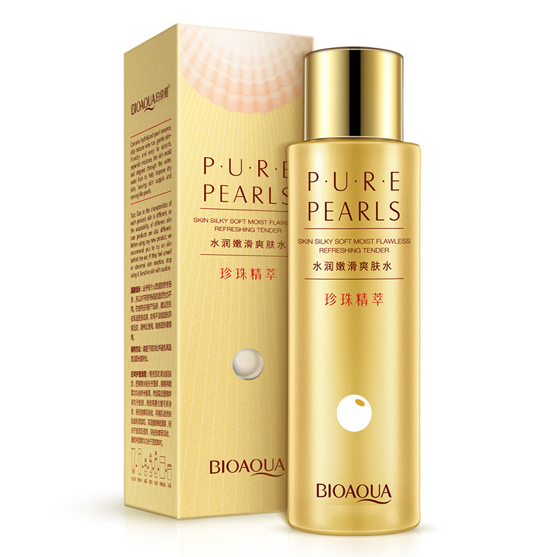 BIOAQUA Pearl Essence Moisturizing Facial  Tender Smooth Moisturizing Firming Nourishing Repair Brighten Shrink Pores 120ml