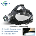lanterne led head lamp cree xml t6 18650 Rechargeable Battery headlamp camping  headlight Cycling frontal Head Torch Headlamps
