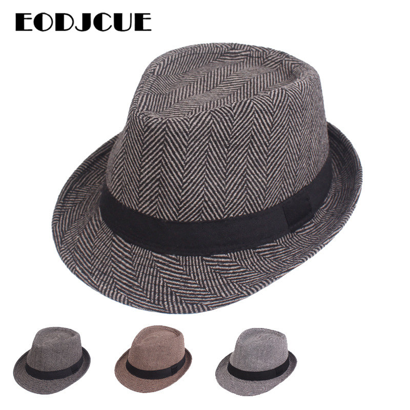 Wholesale  2019 new Fashion fedoras jazz hat Men Women Winter Hat woolen blend cap outdoor casual hat gorras