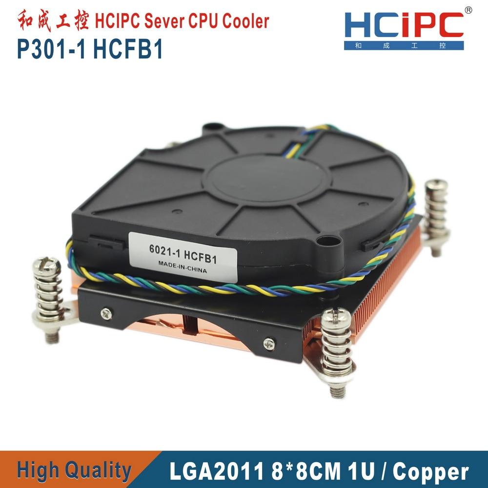 HCIPC P301-1 HCFB1 LGA2011 Square 80*80MM CPU Cooler,Computer Heatsink, CPU Fans, 1U Slim Copper CPU Cooler, , Cooling Fan(China)