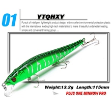 YTQHXY 2017 Hot Model Fishing Lures Hard Bait 6 Color 11.5cm 13.2g Minnow Quality Professional Lure Depth 0.3-1.5m YE-81