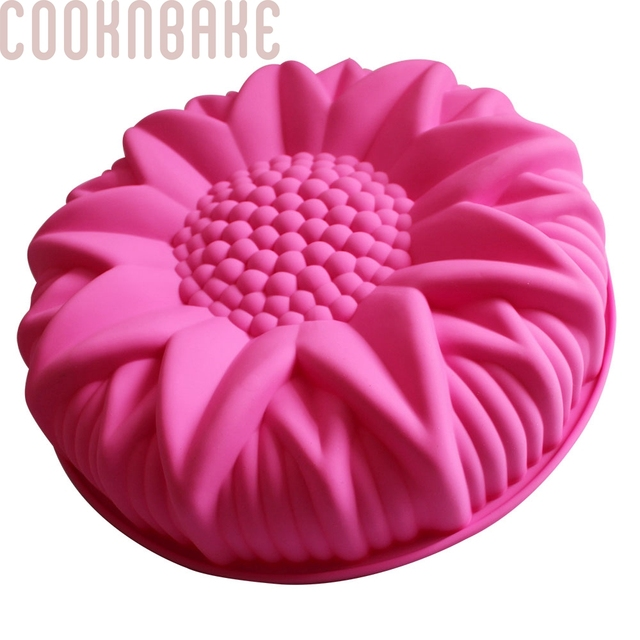 COOKNBAKE DIY  Silicone Cake Mold  Dessert Molds Large Sunflower Styling Pastry Mold  SCM-003-3