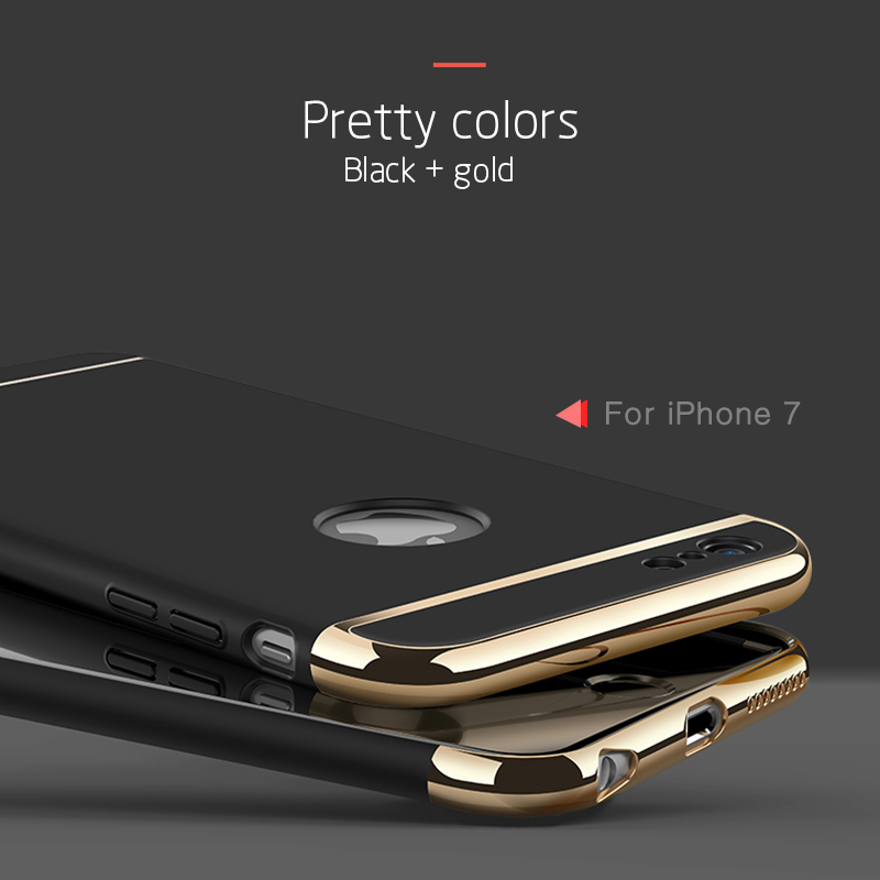 3 in 1 Luxury Hard Case Cover For All IPhone Model 1