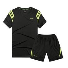 Summer Set Mens Tracksuit Causal Two Pieces Sports Suits Short Sleeve T-shirt Shorts Fashion Male Wear Set Man Tshirt Homm Brand цена