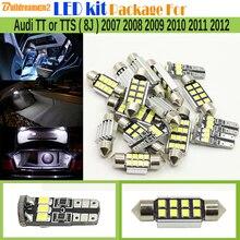 Buildreamen2 Car 2835 Светодиодная лампа Белый Ошибка Бесплатный светодиодные комплект Вышивка Крестом Пакет Географические карты Купол Магистральные свет для Audi TT или ТЦ (8j) 2007-2012