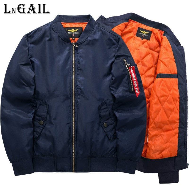 Bomber Jacket 2018 Men's Fashion Thick Warm Autumn Winter Military Motorcycle Jackets Men Flight Ma-1 Pilot Air Force Brand coat
