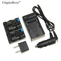 5pcs Set 2x NP FM500H NP FM500H 1800mAh Rechargeable Camera Battery Charger Car Charger Kit