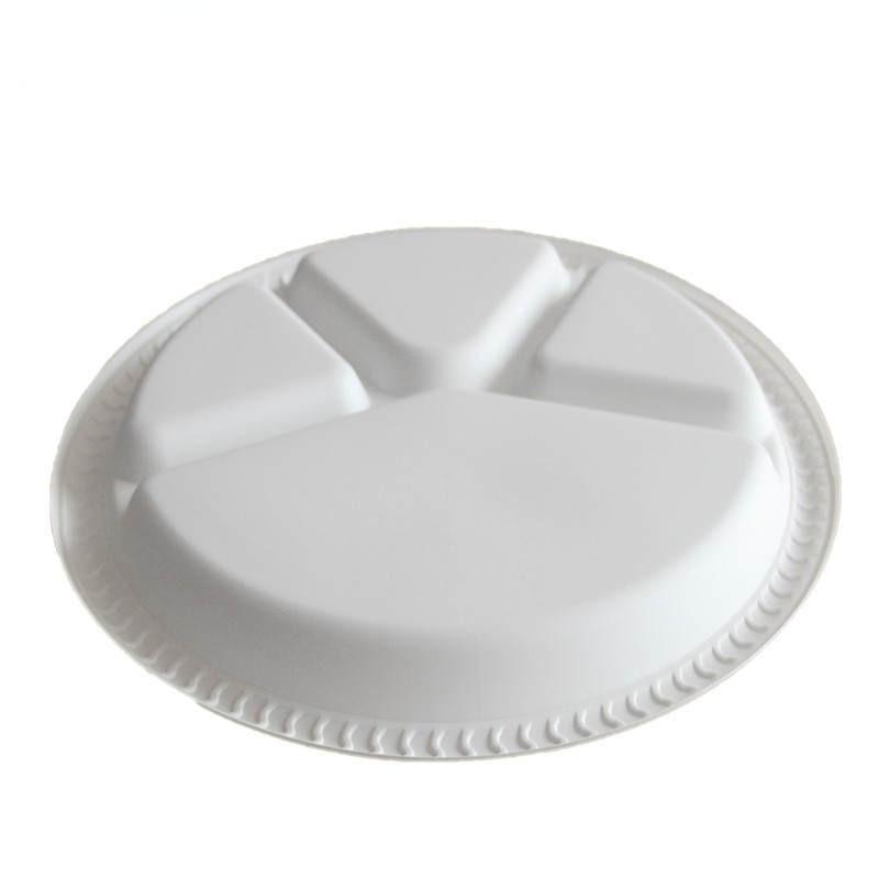 Disposable Plastic Plate 4 Grids Degradable Snack Fruit Sushi ...