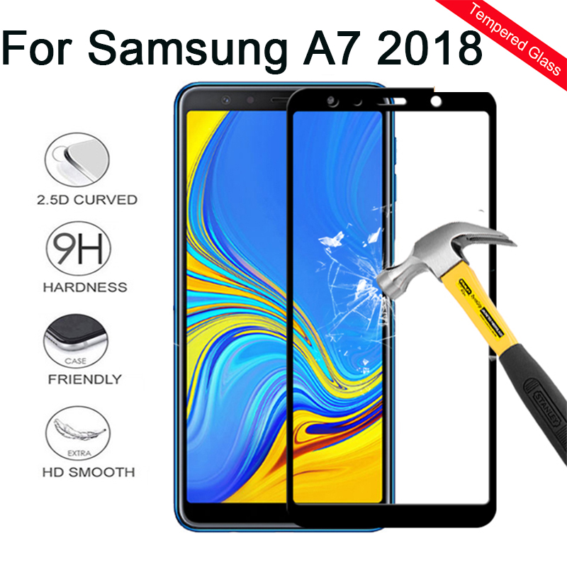 Glass Screen-Protector Protective-Film Samsung A7 Galaxy for Full-Cover Armor A750