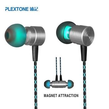 a49e60987d5 Auriculares magnéticos de PLEXTONE X41M auriculares con micrófono para  iPhone iPad Samsung Sony Huawei Xiaomi letv