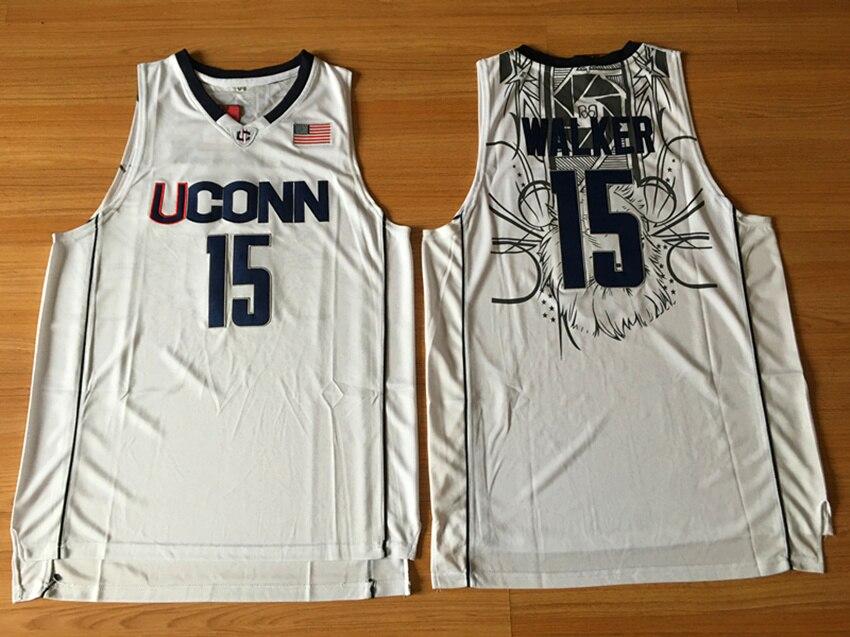 c1916d1515a ... release date kemba walker uconn jersey 15 uconn huskies basketball  jersey college mens commemorative sport shirt