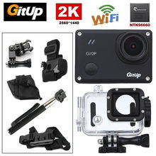 "Gitup Git2P WiFi 2K 1.5"" LCD 1080P Full HD Professional Helmet Video HDMI Action Sports Dash Camera Waterproof +8Pcs Accessories"