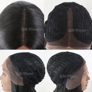 Image 4 - QD Tizer Hair Long Straight Hair Lace Wigs Natural Soft Hair Glueless Heat Resistant Synthetic Lace Front Wigs for Black Women