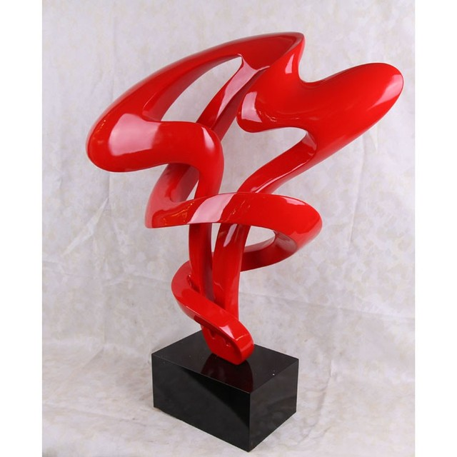 Modern Minimalist Decorations Ornaments Living Room Red Abstract Sculpture Part 23