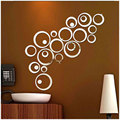DIY 3D Mirror Acrylic Wall Stickers Creative Circle Ring Home Decors for Family Decoration Mordern Adesivo De Parede Home Decal