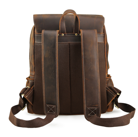 e49dea1b51 Men s Genuine Leather laptop Backpack male Multifunction Mountaineering bag  man Military Carry On Overnight Weekender Backpack -in Backpacks from  Luggage ...