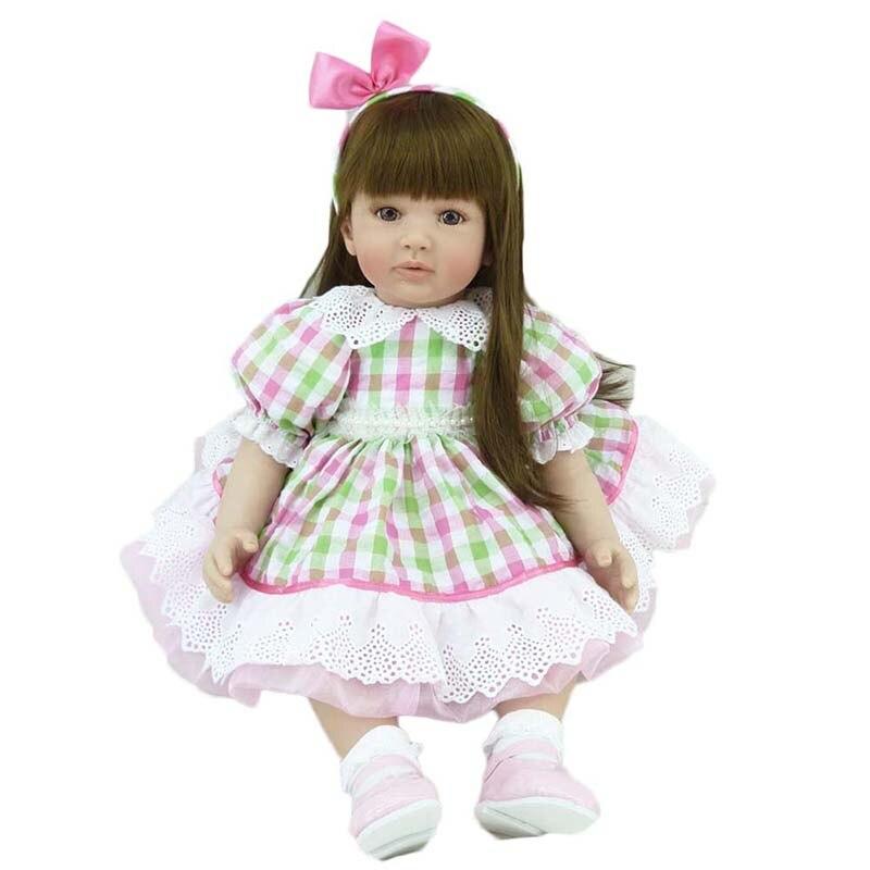 """22 """"เจ้าหญิงตุ๊กตาซิลิโคนนุ่ม Bebe Reborn ทารกตุ๊กตา Handmade เด็กวัยหัดเดินเด็กตุ๊กตาบ้านเด็กเล่นของเล่น-ใน ตุ๊กตา จาก ของเล่นและงานอดิเรก บน   3"""