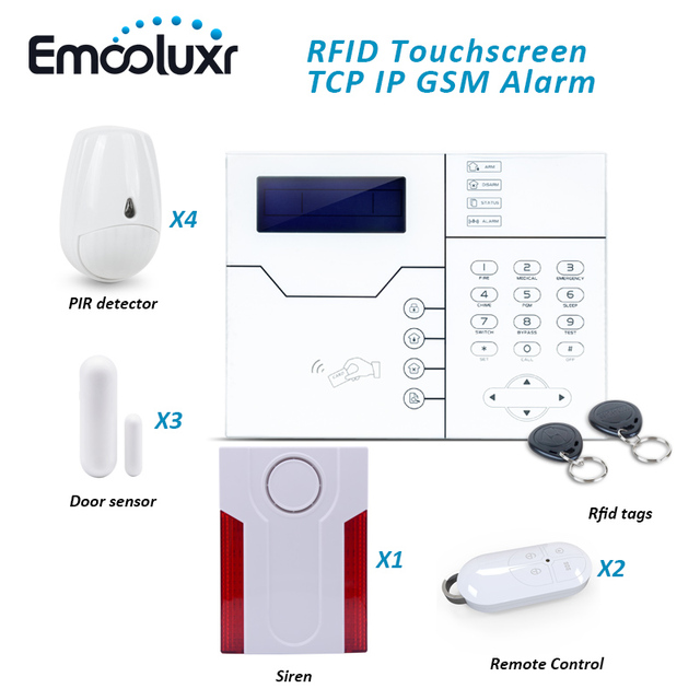 Cheap DIY Home Security Alarm System ST-VGT Network GSM Alarm with Outdoor Waterproof Flash Strobe Siren and Pet Friendly PIR Sensor