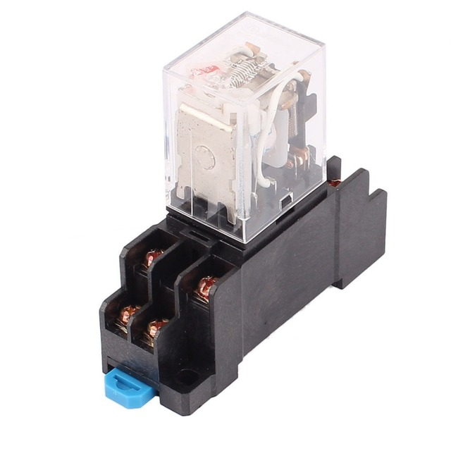 HH52P L AC 12V Coil 8 Terminal 35mm DIN Rail Red Light Power ... on car relay wiring, horn relay wiring, control relay wiring, ac relay wiring,