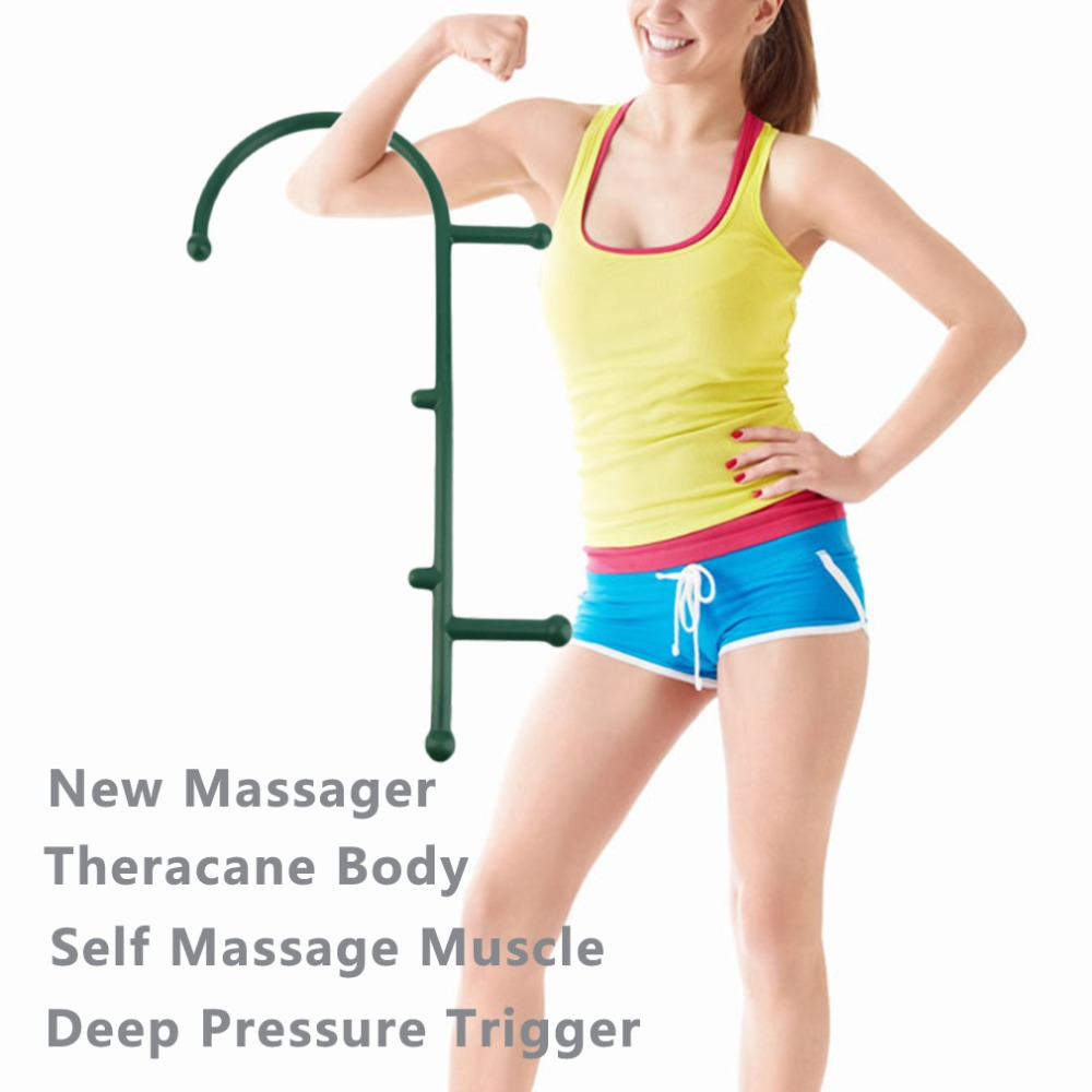 Body Back Buddy Trigger Point Therapy Self Massage Tool Lower Back/Neck/Shoulder Massager Myofascial Release Deep Muscle Massage new arrive thera cane back hook massager neck self muscle pressure stick tool manuel trigger point massage rod sswell