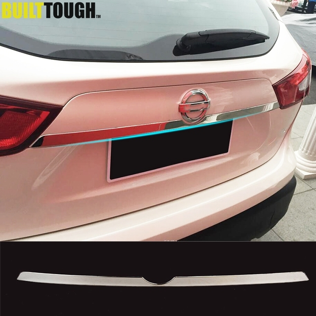 For Nissan Rogue Sport Qashqai j11 2014   2019 Chrome Rear Trunk Lid Tailgate Door Handle Cover Trim Molding Car Styling