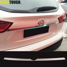 Per Nissan Rogue Sport Qashqai j11 2014   2019 Chrome Posteriore del Tronco del Coperchio Portellone Maniglia di Portello Della Copertura Trim Stampaggio Auto styling