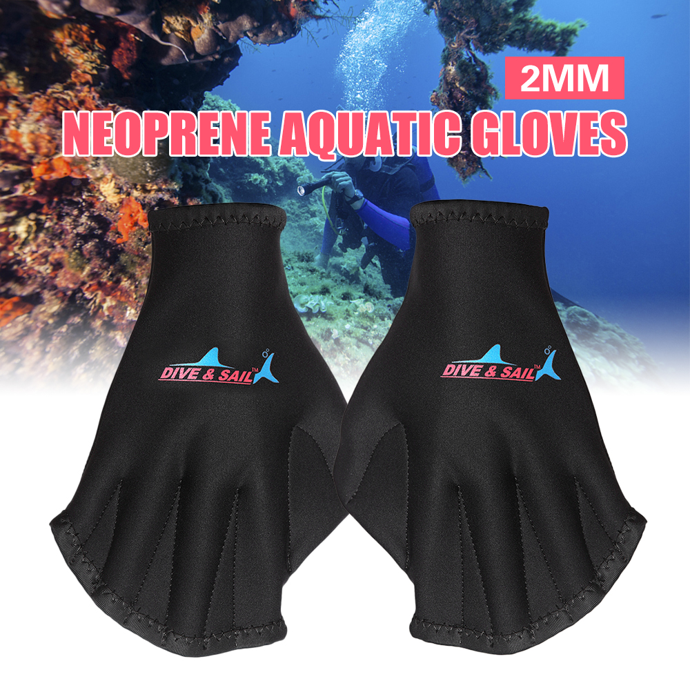 1Pair Unisex Frog Type Silicone Girdles Swimming Hand Fins Flippers Dive Glove Palm Finger Webbed Gloves Paddle Water Sports