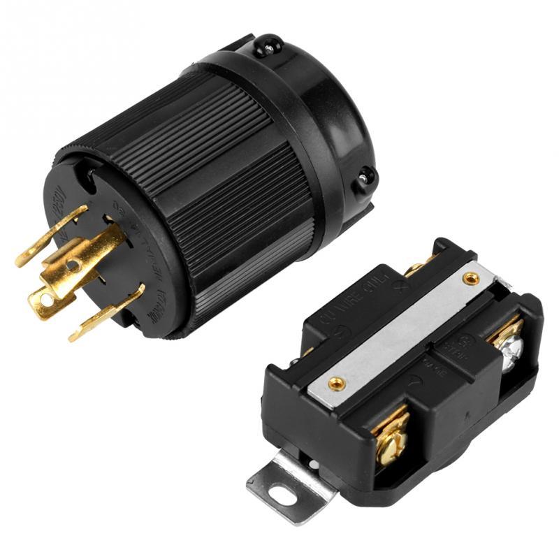 US $9.85 40% OFF|Generator Socket 4 Pin NEMA L14 30 Generator RV AC on