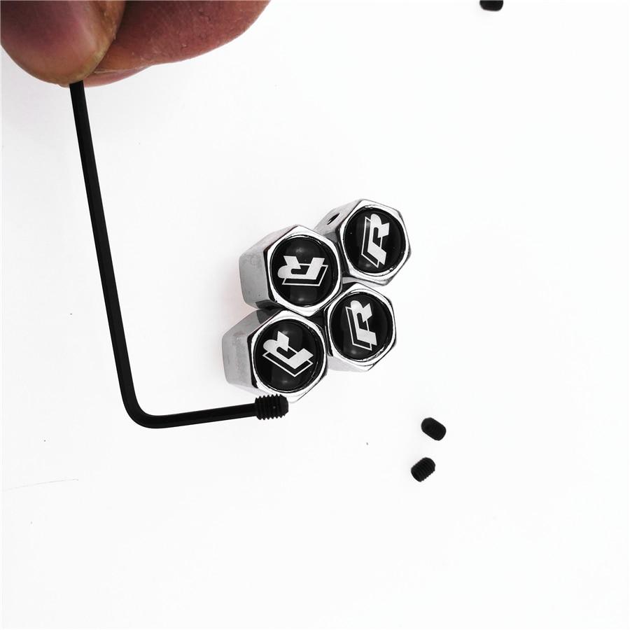accessories Anti-theft valve cap For Nissan Nismo Qashqai Tiida Teana Juke X-Trail VW VOLKWAGEN R Auto Accessories Car-Styling