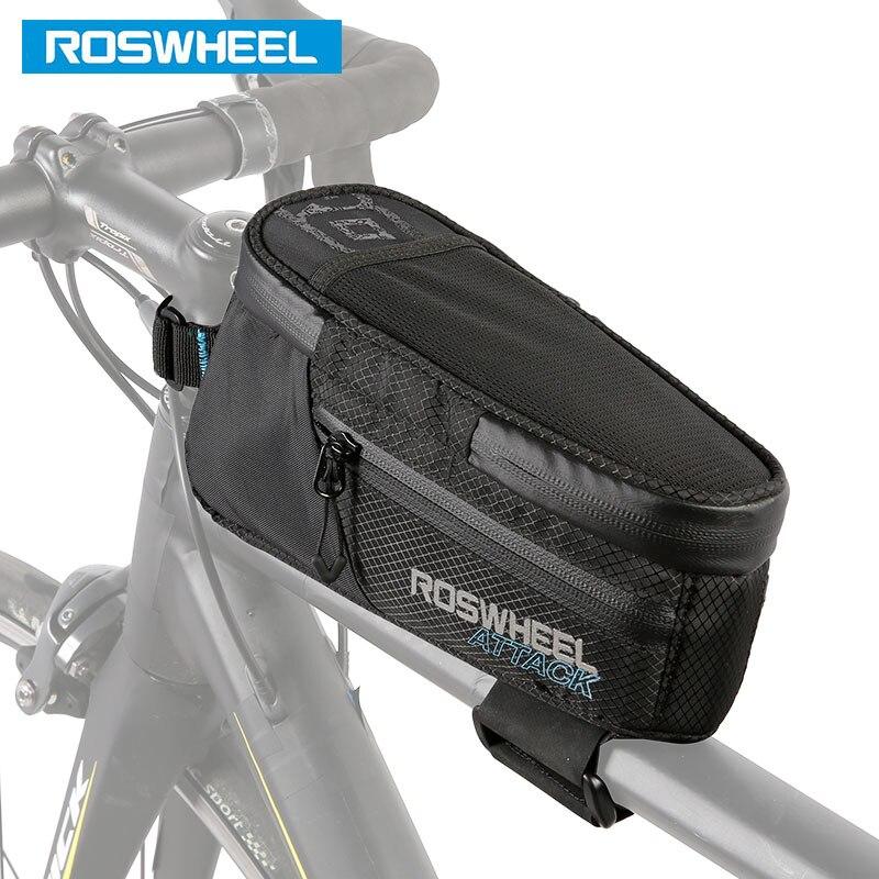 ROSWHEEL Hot New Vélo Cadre Supérieur Sac Tube Poche Pannier Vélo Carryings Poche VTT Vélo De Route Cycle Panier 121370