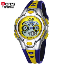 OTS Fashion Digital Candy Colors Silicone strap Kids Watches montre enfant luxe Top Brand Waterproof Students' Watche For Gifts