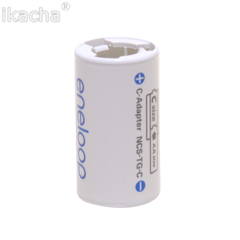 For All Types For Sanyo Ene Loop Battery Adaptor Converter NCS TG C AA R6 to C R14 C Size High Quanliyt-in Battery Storage Boxes from Consumer Electronics